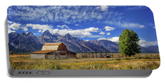 John Moulton Barn In The Tetons Portable Battery Charger