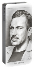 John Steinbeck Portable Battery Charger by Greg Joens