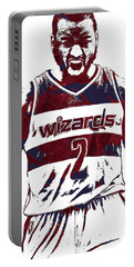 John Wall Washington Wizards Pixel Art 5 Portable Battery Charger