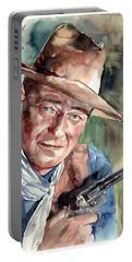 John Wayne Portrait Portable Battery Charger
