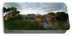 John Weeks Bridge In Harvard Square Cambridge Portable Battery Charger