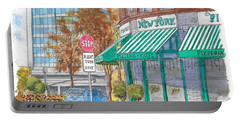 Johnnie's Pizzeria En Centrury City, California  Portable Battery Charger by Carlos G Groppa