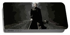 Johnny Cash Abstract Portable Battery Charger