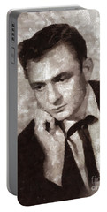 Johnny Cash By Mary Bassett Portable Battery Charger