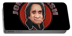 Johnny Cash Graphic Portable Battery Charger
