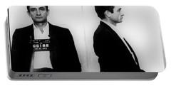 Johnny Cash Mug Shot Horizontal Portable Battery Charger