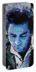 Johnny Cash Portable Battery Charger by Richard Day