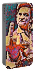Johnny Cash Says Hello Portable Battery Charger