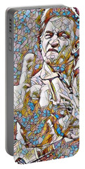 Johnny Cash Says Hello - Stained Glass Portable Battery Charger