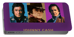 Johnny Cash - Triptych Designs Portable Battery Charger