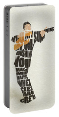 Johnny Cash Typography Art Portable Battery Charger