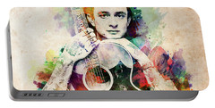 Johnny Cash With Guitar Portable Battery Charger