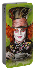 Johnny Depp As Mad Hatter Portable Battery Charger