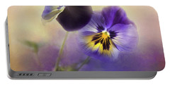 Portable Battery Charger featuring the photograph Johnny Jump Up by Theresa Tahara