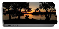 Portable Battery Charger featuring the photograph Johns Island Sunset by Robert Knight