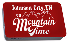 Portable Battery Charger featuring the digital art Johnson City Tn On Mountain Time by Heather Applegate
