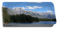 Johnson Lake, Alberta Portable Battery Charger by Heather Vopni