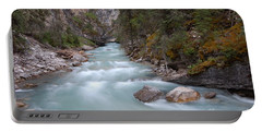 Portable Battery Charger featuring the photograph Johnston Canyon In Banff National Park by RicardMN Photography