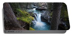 Johnston Canyon Waterfall Portable Battery Charger