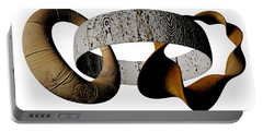 Portable Battery Charger featuring the sculpture Join Circles by R Muirhead Art