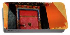 Jokhang Temple Door Lhasa  Tibet Artmif.lv Portable Battery Charger