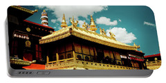 Portable Battery Charger featuring the photograph Jokhang Temple Fragment  Lhasa Tibet Artmif.lv by Raimond Klavins