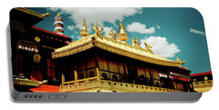 Jokhang Temple Fragment  Lhasa Tibet Artmif.lv Portable Battery Charger