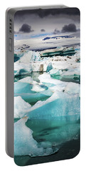 Portable Battery Charger featuring the photograph Jokulsarlon Glacier Lagoon Iceland With Icebergs by Matthias Hauser