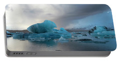 Portable Battery Charger featuring the photograph Jokulsarlon, The Glacier Lagoon, Iceland 4 by Dubi Roman