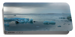 Portable Battery Charger featuring the photograph Jokulsarlon, The Glacier Lagoon, Iceland 1 by Dubi Roman