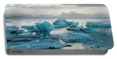Portable Battery Charger featuring the photograph Jokulsarlon, The Glacier Lagoon, Iceland 6 by Dubi Roman