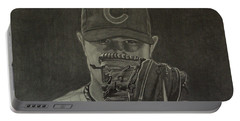 Jon Lester Portrait Portable Battery Charger