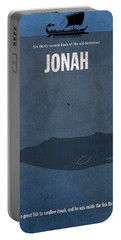 Jonah Books Of The Bible Series Old Testament Minimal Poster Art Number 32 Portable Battery Charger
