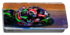 Jonathan Rea On His Way 2016 Kawasaki Portable Battery Charger