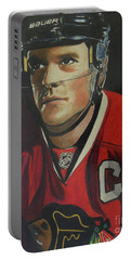 Jonathan Toews Portrait Portable Battery Charger