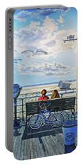 Jones Beach Boardwalk Towel Version Portable Battery Charger