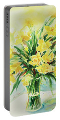 Jonquils Portable Battery Charger by Alexandra Maria Ethlyn Cheshire