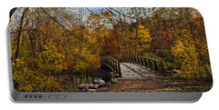 Portable Battery Charger featuring the photograph Jordan Park Bridge by Judy Johnson