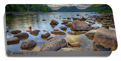 Jordan Pond And The Bubbles Portable Battery Charger by Rick Berk