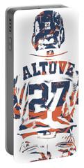 Jose Altuve Houston Astros Pixel Art 10 Portable Battery Charger