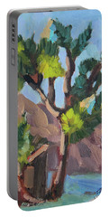 Portable Battery Charger featuring the painting Joshua At Keys Ranch by Diane McClary