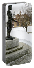 Portable Battery Charger featuring the photograph Joshua Lawrence Chamberlain Statue, Brunswick, Maine  -50415 by John Bald