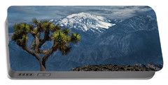 Portable Battery Charger featuring the photograph Joshua Tree At Keys View In Joshua Park National Park by Randall Nyhof