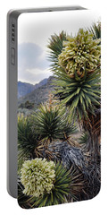 Joshua Tree Bloom Rainbow Mountain Portable Battery Charger by Kyle Hanson