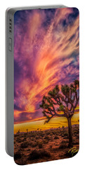 Joshua Tree In The Glowing Swirls Portable Battery Charger