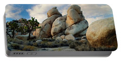 Portable Battery Charger featuring the photograph Joshua Tree Rock Formations At Dusk  by Glenn McCarthy Art and Photography