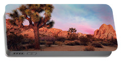 Portable Battery Charger featuring the photograph Joshua Tree With Dawn's Early Light by John Hight
