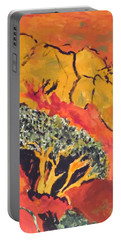 Joshua Trees In The Negev Portable Battery Charger by Esther Newman-Cohen