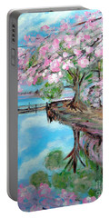Joy Of Spring. Acrylic Painting For Sale Portable Battery Charger