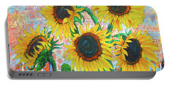 Joy Of Sunflowers Desiring Portable Battery Charger